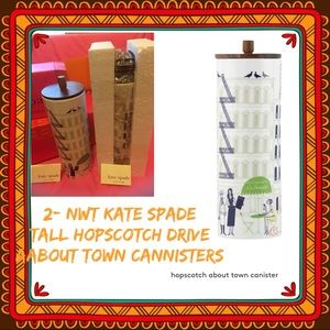 kate spade Hopscotch Dr About Town/Tall Canisters